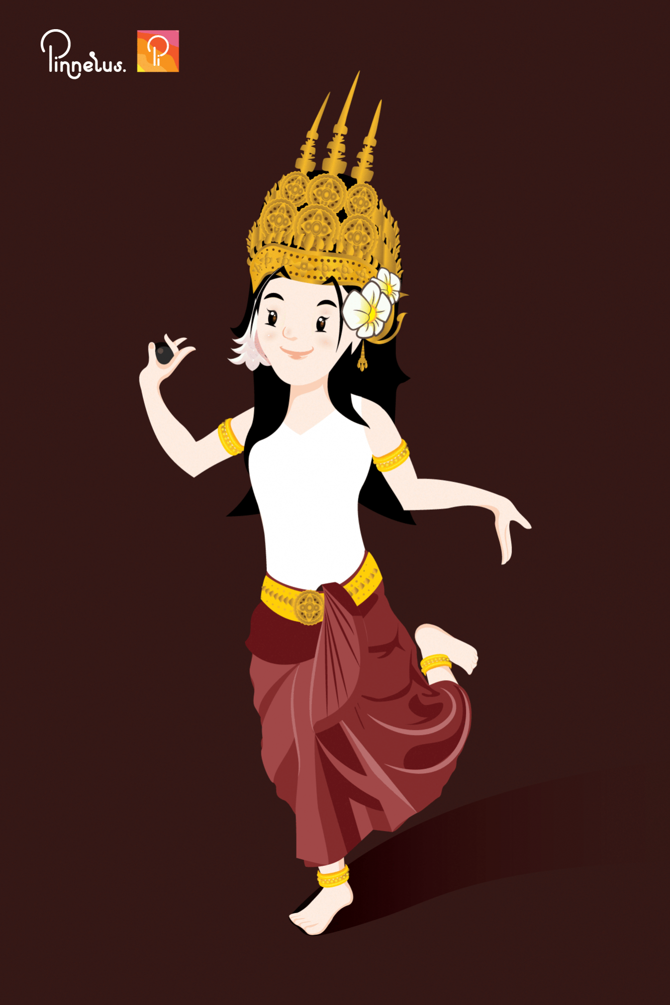 Khmer Apsara Illustration