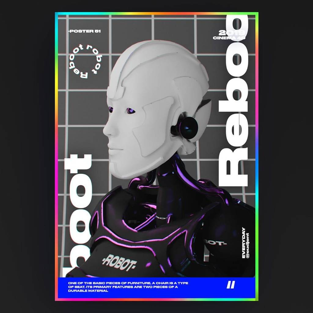 reboot robot poster. - 67110241 394298421441133 7173015457002470507 n 1024x1024 - Reboot robot poster. . . . #GraphicDesign #typographicposter #VisualArt #art #creativroom #creative #artist #fun #black …