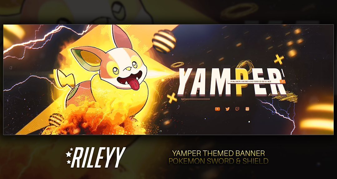 - 71971256 198716584466979 3477768689318989534 n hQxx5L - 🔶 Yamper themed banner / Pokemon Sword & Shield – – – Yamper has become one of the most adorable beans in the Pokemon u…
