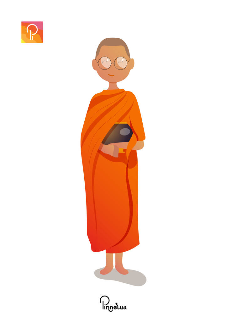 Khmer monk vector illustration khmer monk vector illustration - monk pinnerus 724x1024 - Khmer monk vector illustration